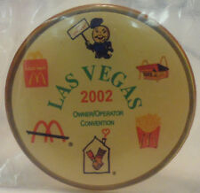 McDONALD'S PIN - LAS VEGAS 2002 - OWNER/OPERATOR CONVENTION PIN - BRAND NEW