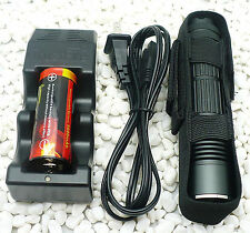 Trustfire A8 26650 CREE XM-L XML T6 LED 1000L Flashlight Battery charger Holster