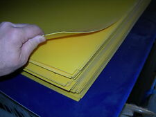 "YELLOW STYRENE POLYSTYRENE PLASTIC SHEET .060"" THICK 24"" X 24"""