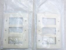 Leviton PJ263-T 3-Gang Light Almond Decora/GFCI  Midway Wall Plate Lot of 2, NIB