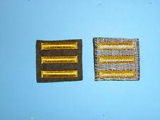 b1653-3 WW 2 US Army Overseas Bars EM style 3 bars