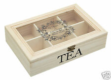 Kitchen Craft Wood Wooden Vintage Retro Tea Box Chest Store Caddy **TRACKED**
