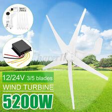 5200W Max Power Wind Turbines Generator 5 Blades DC24V w/Charge