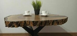 Szczegóły o  Stolik kawowy wykonany z kawałka orzecha włoskiego