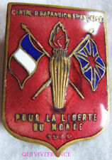 IN10355 - INSIGNE  CENTRE EXPANSION FRANCAISE 1939 GRANDE BRETAGNE - ROUGE