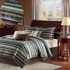 Southwest Comforter Set King Size Blanket 7-Piece Bedding Bedspread Decor Pillow
