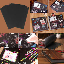 30x Scrapbook Photo Album 3-Hole Page Refill Sheet For Wedding Craft 26*18cm
