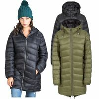 Trespass Ruin Womens Padded Jacket Longer Length Coat Green & Black