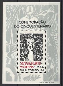 Brasilien, Moderne Kunst, postfr.,1972, Mi-Nr. 1316 Bl 29
