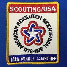 Boy Scout 14th World Jamboree Scouting/USA Jacket Patch  American Bicentennial