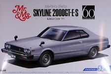 Aoshima 1/24 Nissan KHGC210 1977 Skyline GT-E.S Mr. & Ms. PLASTIC MODEL KIT 5352