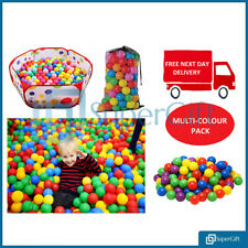 100 HIGH QUALITY PLASTIC BALLS CHILDREN BALL PIT KIDS MULTICOLOURED TOYS PLAY