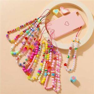 Colorful Beads Chain Mobile Phone Chain Anti-lost Handmade Acrylic Cord