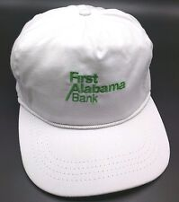 Vintage FIRST ALABAMA BANK white adjustable cap / hat