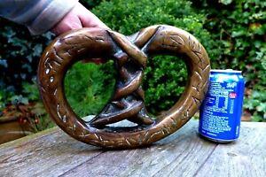 Antique XL Brass Bronze Pull Door Handle Castle Church Very Heavy 5kg Wide 25 cm