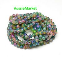 100 x glass loose beads multicolour colourful 6mm mixed colours crafts spacer