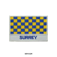 SURREY County Flag With Name Embroidered Patch Iron on Sew On Badge