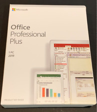 Microsoft Office 2019 Professional Plus for Windows PC Retail New Sealed Box