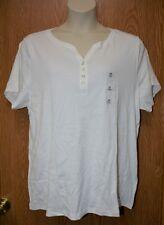 Womens White Karen Scott Short Sleeve Button Accent Shirt Size 2X NWT NEW