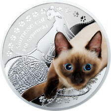 Niue 2014 1$ Siamese Cat Man's Best Friends – Cats Proof Silver Coin