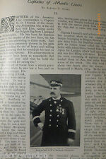 Atlantic Liner Captains Ships Rare Victorian 1897 Article Cunard White Star Line