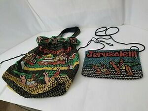 Jerusalem Beaded Tote Bag and Wallet Brand-new