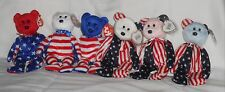 TY BEANIE BABIES 3 x Spangle & 3 x Liberty Retired Bears & Tags Mint Condition