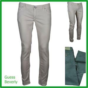 jeans guess da donna vita bassa elasticizzati pantaloni slim skinny fit 40 42 44