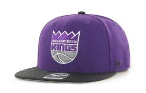 New Men's Sacramento Kings hat cap NBA '47 Brand Captain snapback one size nwt