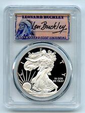 2012 W $1 Proof American Silver Eagle 1oz PCGS PR69DCAM Leonard Buckley