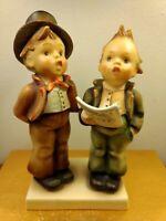 "Hummel Figurine #130 ""Duet"" Two Boys Singing TMK-2 Full Bee 5-1/4"" Vintage"