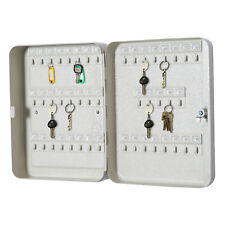 Steel Key Security Cabinet Box 45 Keys Capacity Lock Tags Included Grey