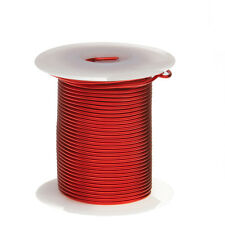 "18 AWG Gauge Enameled Copper Magnet Wire 2oz 25' Length 0.0415"" 155C Red"