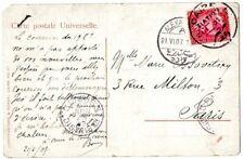 "Egypt 1907 postcard of ""June Fille Arabe"" sent to Paris"