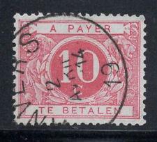 Belgique 1919 Mi. 13 Oblitéré 60% timbre-taxe 10 C