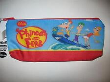 Disney Phineas and Ferb Cartoon Show Kids School Play Crayon PENCIL POUCH CASE