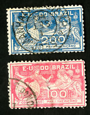 Brazil Stamps # 172-3 Vf Used Catalog Value $40.00