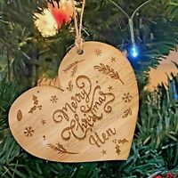 Personalised Wooden Christmas Tree Decoration Bauble