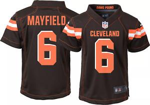 Nike Cleveland Browns Baker Mayfield Jersey Kids Boys Toddler Large SZ 7 NEW $55