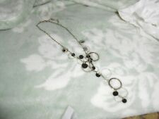 Silver colored chain with circles and lobster clasp