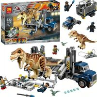 T. Rex Transport Dinosaur Jurassic Series World Building Blocks Toys For Kids