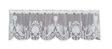 Heritage Lace White Mermaids Window Valance - Seahorse, Sea Shells