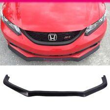 Fits 13-15 Honda Civic 4Dr Front Bumper Lip Spoiler PU Unpainted Black CS Style