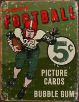 "Topps 1956 Football Vintage Rustic Retro Tin Metal Sign 13""Wx16""H"