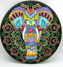 Decorative plate elephant Home decor Hand painted Mandala wall decor Wall plate