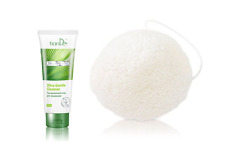 TianDe Phytocode Ultrasoft wash gel for face and Koniac  facial cleansing sponge