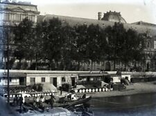 PARIS 1900 - Quais Péniches - Négatif Verre 12 x 9 - V9 2