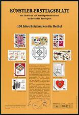 BRD KÜNSTLER-ETB 1988/26 BETHEL BRIEFMARKEN KÜNSTLER-ERSTTAGSBLATT LTD. EDITION