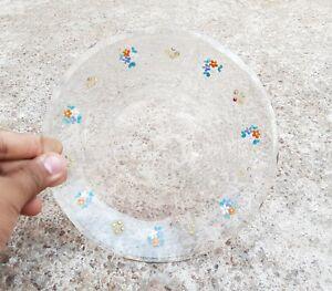 Vintage Unique Design Clear Glass Carnival Plate Japan