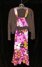 My Michelle Girls Size 10 MOD Floral Sundress Dress Set w/ Matching Sweater